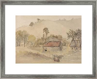 The Barns Framed Print by Samuel Palmer