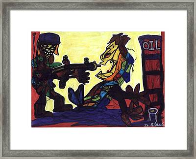 The Barrel Of Diplomacy  Framed Print by Darrell Black
