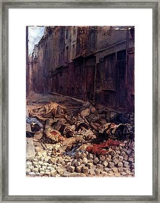 The Barricade Xin Framed Print by Jean Louis Ernest Meissonier