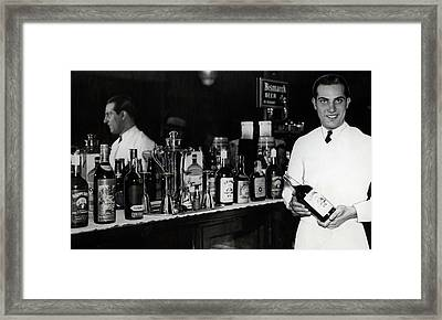 The Bartender Is Back - Prohibition Ends Dec 1933 Framed Print by Daniel Hagerman