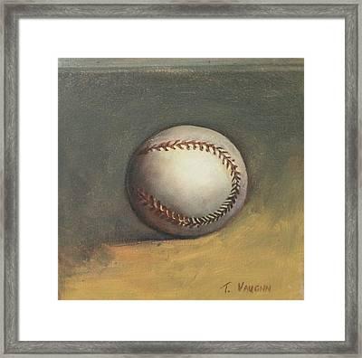 The Baseball Framed Print by Teri Vaughn