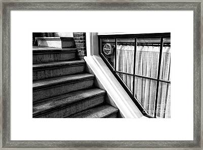 The Basement Window Mono Framed Print by John Rizzuto