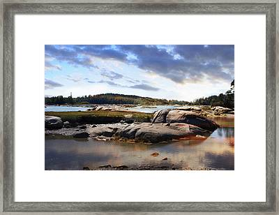 The Basin, Vinalhaven, Maine Framed Print