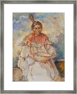 The Basket Maker Framed Print