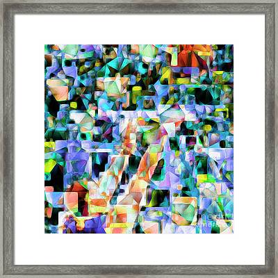 The Basketball Jump Shot In Abstract Cubism 20170328 Square Framed Print by Wingsdomain Art and Photography