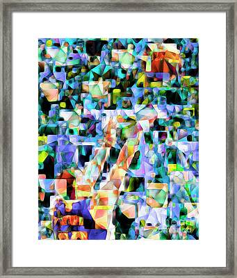 The Basketball Jump Shot In Abstract Cubism 20170328 Framed Print by Wingsdomain Art and Photography