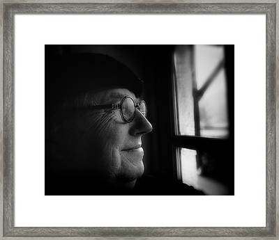 The Bass Player Framed Print by Richard Bland