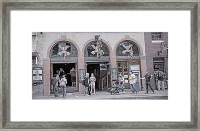 The Bat Bar Austin Texas Framed Print