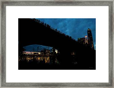 The Bat Bridge Austin Texas Framed Print