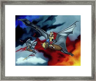 The Bat Riders Framed Print