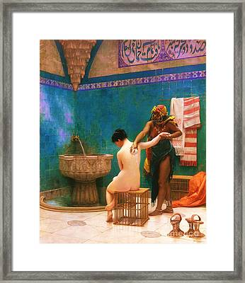 The Bath Framed Print by Pg Reproductions
