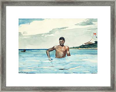 The Bather, 1899 Framed Print by Winslow Homer