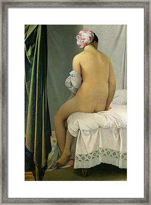 The Bather Framed Print by Jean Auguste Dominique Ingres
