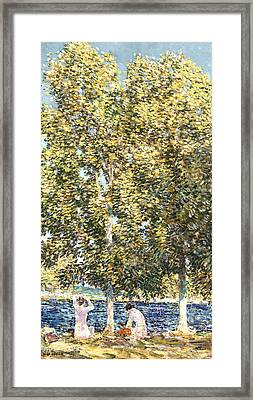 The Bathers Framed Print by Childe Hassam