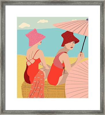 The Bathers Framed Print by Nicole Wilson