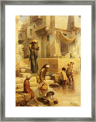 The Bathers Framed Print by Paul Dominique Philippoteaux