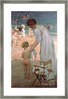 The Bathing Hour  Framed Print by Emmanuel Phillips Fox