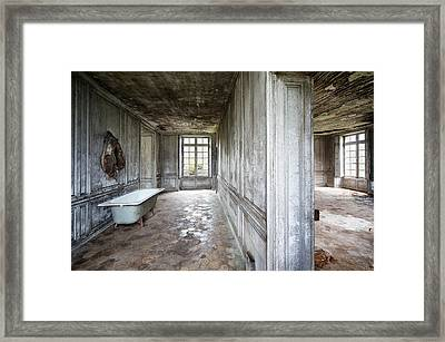 The Bathroom Next Door - Urban Exploration Framed Print