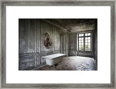 The Bathroom Tub - Urban Decay Framed Print