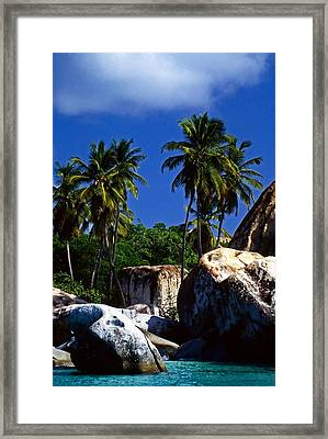 The Baths. British Virgin Islands Framed Print