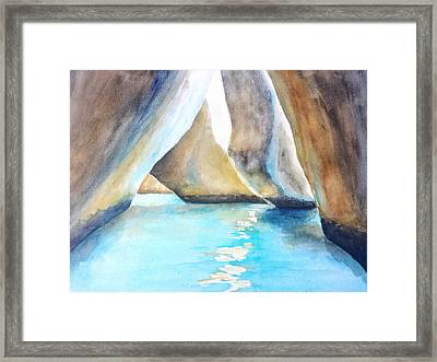 The Baths Water Cave Path Framed Print