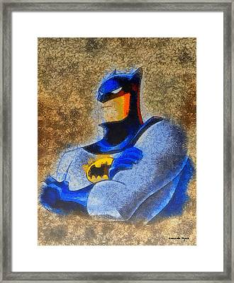 The Batman - Da Framed Print by Leonardo Digenio