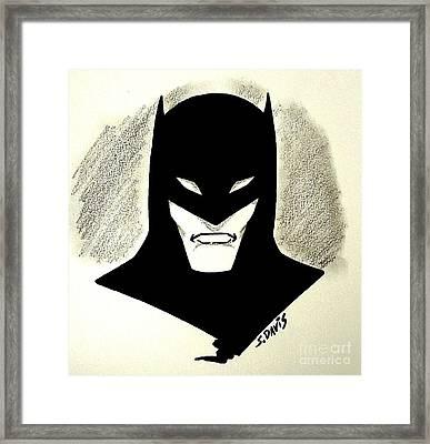 The Batman Minimalist Framed Print
