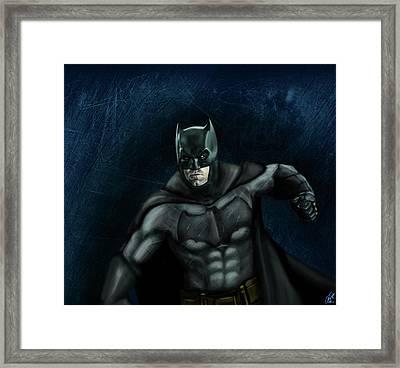 The Batman Framed Print by Vinny John Usuriello