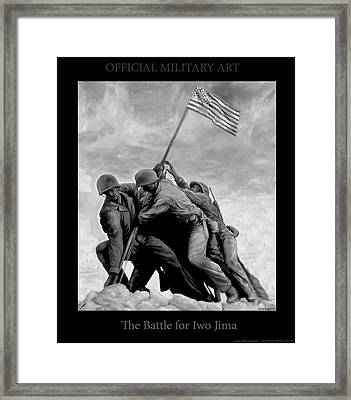 The Battle For Iwo Jima By Todd Krasovetz Framed Print by Todd Krasovetz