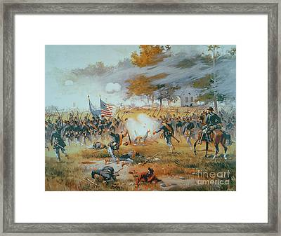 The Battle Of Antietam Framed Print by Thure de Thulstrup