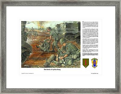 The Battle Of Ap Bau Bang Framed Print