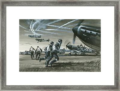 The Battle Of Britain Framed Print by Wilf Hardy