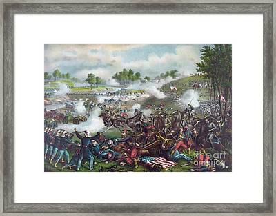 The Battle Of Bull Run Framed Print by American School