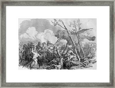 The Battle Of Bull Run Framed Print by War Is Hell Store