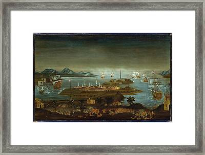The Battle Of Bunker Hill Framed Print by MotionAge Designs