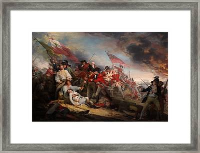 The Battle Of Bunker's Hill Framed Print