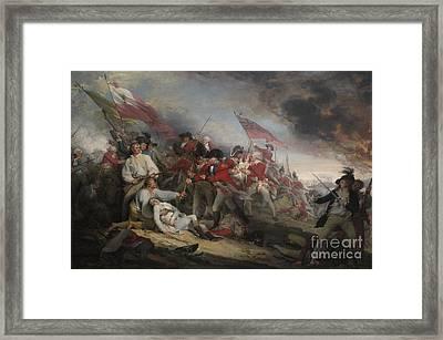 The Battle Of Bunker's Hill On June 17th 1775 Framed Print