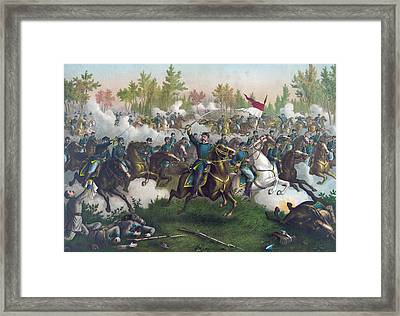 The Battle Of Cedar Creek,  Framed Print by American School