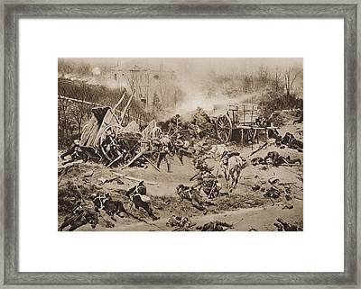 The Battle Of Champigny, November 30 Framed Print
