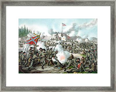 The Battle Of Fort Sanders Framed Print