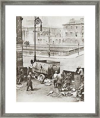 The Battle Of Four Courts, Dublin Framed Print by Vintage Design Pics