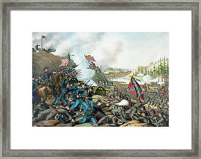 The Battle Of Franklin - Civil War Framed Print by War Is Hell Store
