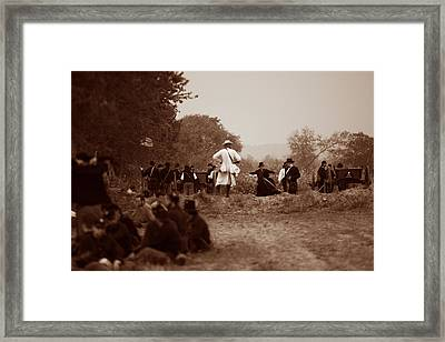 The Battle Of Franklin Framed Print by Mark Currier