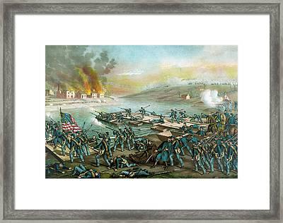 The Battle Of Fredericksburg - Civil War Framed Print
