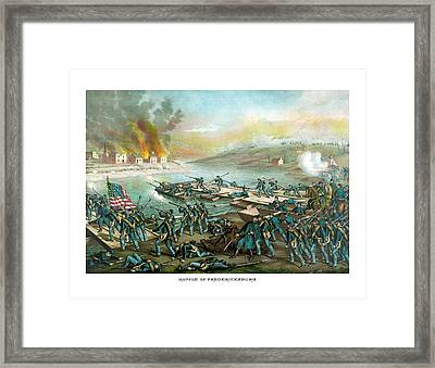 The Battle Of Fredericksburg Framed Print