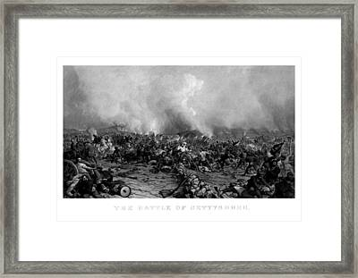 The Battle Of Gettysburg Framed Print by War Is Hell Store
