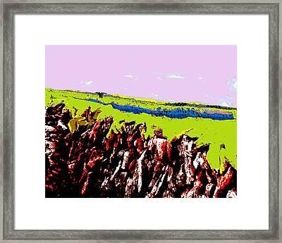 The Battle Of Gorseberry Plain Framed Print