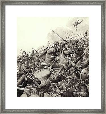 The Battle Of Hastings Framed Print