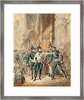 The Battle Of Hogland Framed Print by MotionAge Designs