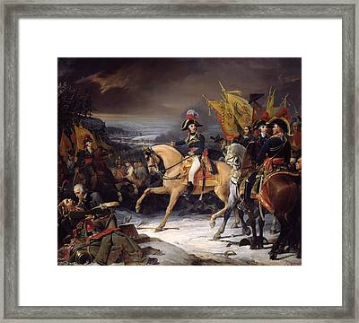 The Battle Of Hohenlinden Framed Print by Henri Frederic Schopin